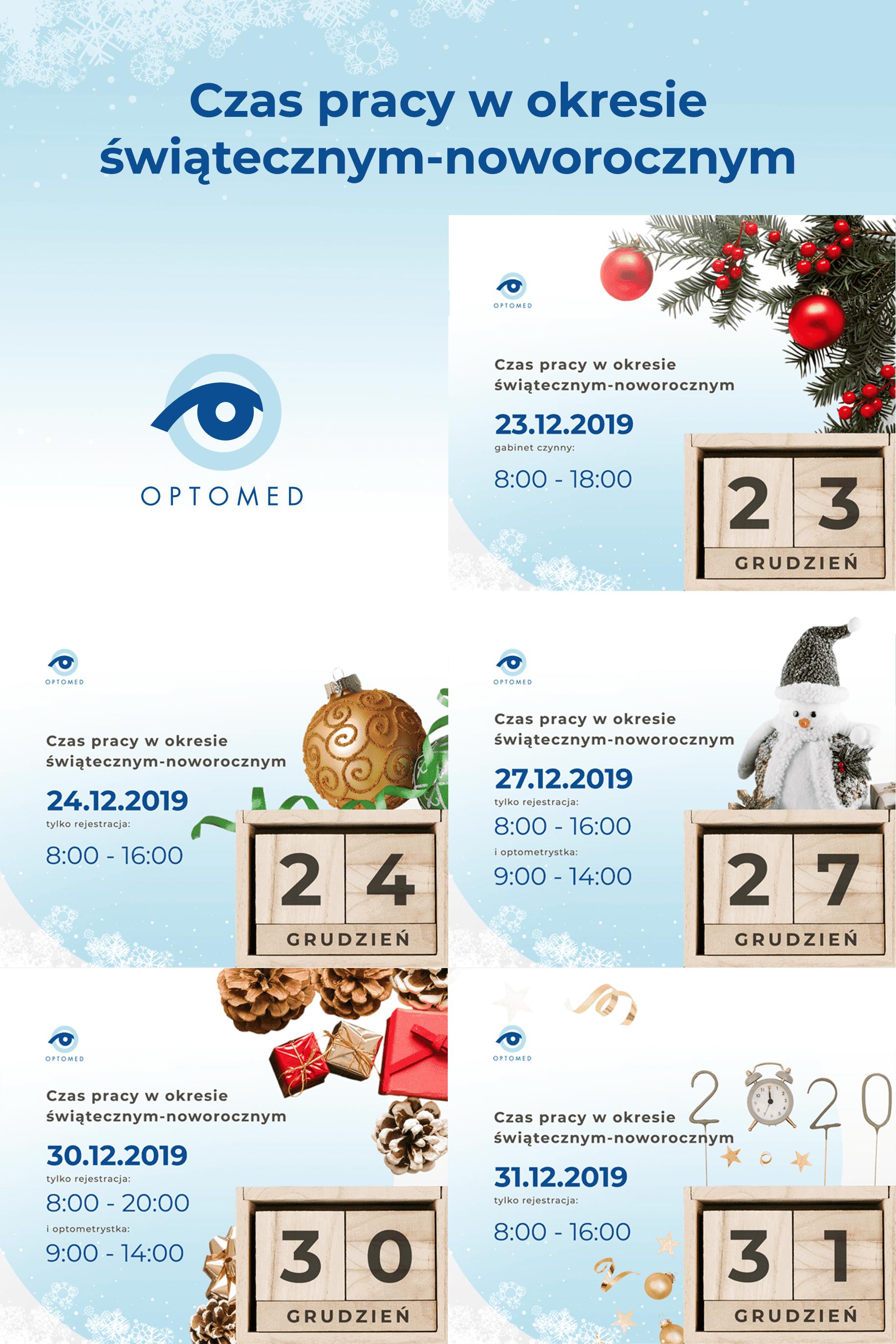Zmiana godzin pracy w okresie świąteczno-noworocznym 🎅📣⏰